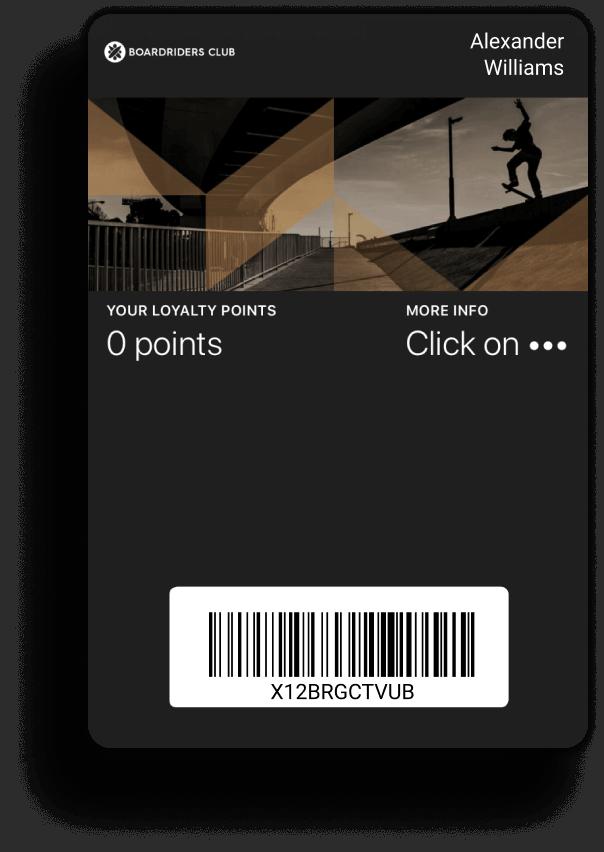 Boardriders using mobile wallets