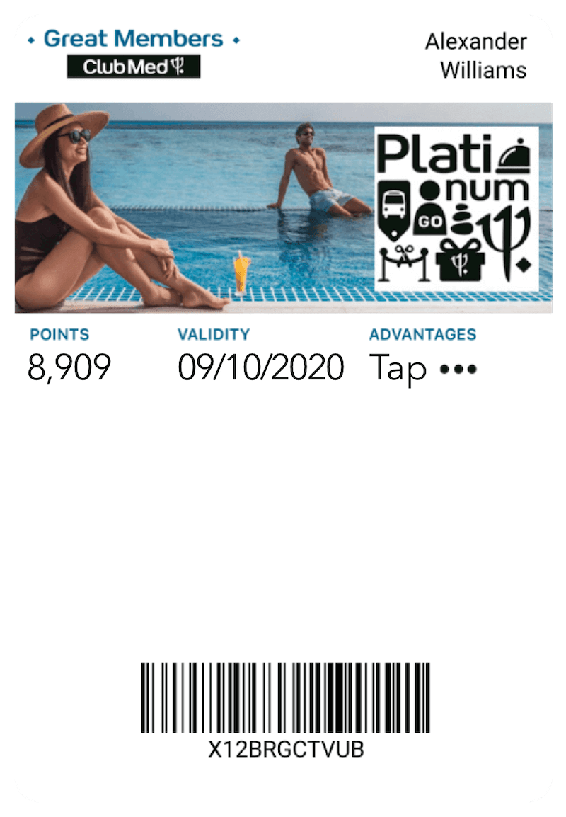 Club Med mobile wallet passBoardriders Club mobile wallet pass - Captain Wallet