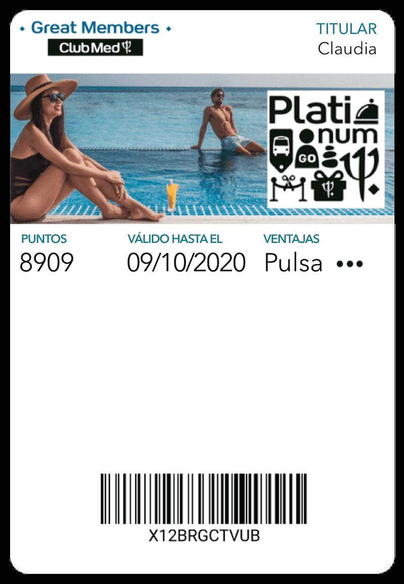 Tarjeta Club Med en Mobile Wallet