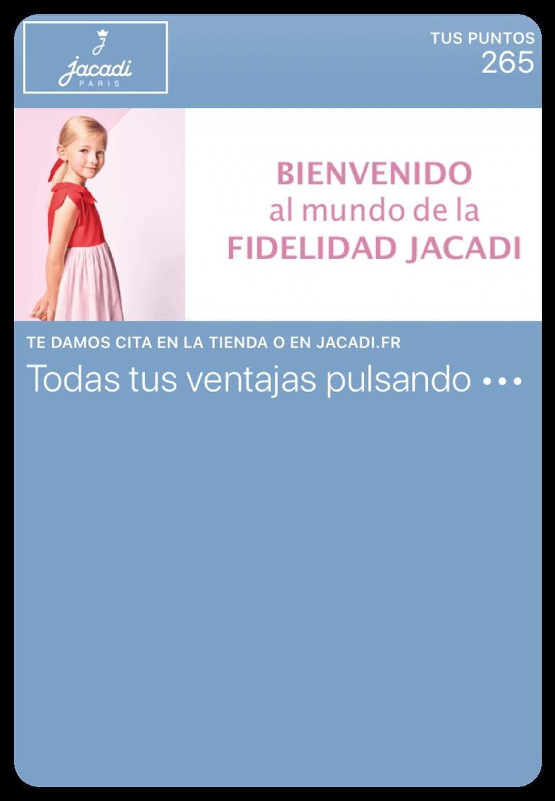 Tarjeta Jacadi en Mobile Wallet